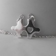Gorgeous Handmade Retro Classic Jigsaw Fine Silver 999 Pendant Sterling Chain